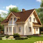 Casas de ladrillo con techo de madera