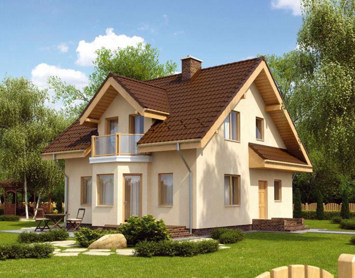 Casas de ladrillo con techo de madera for Techos planos para casas
