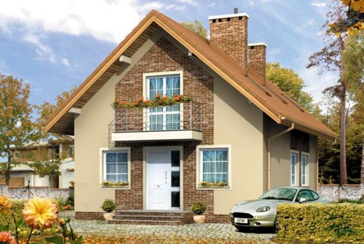Casas de ladrillo con techo de madera for Tipos de techos