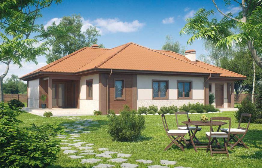 Fachadas anchas for Fachadas de casas con teja
