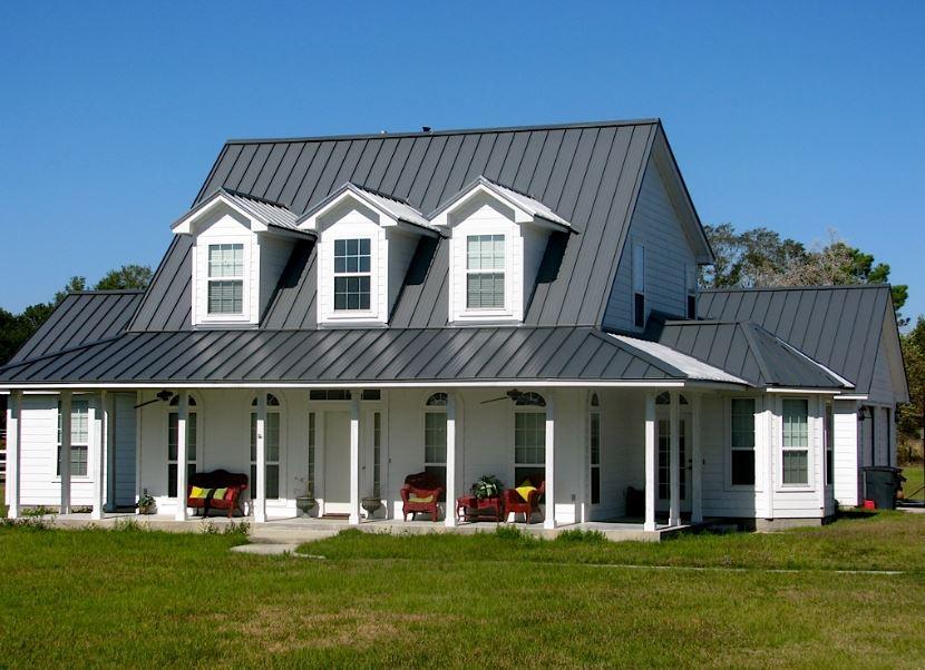 fachadas con techos de chapa