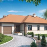 Fachada de casa con tejas