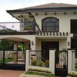 Fachadas de casas con terraza al frente