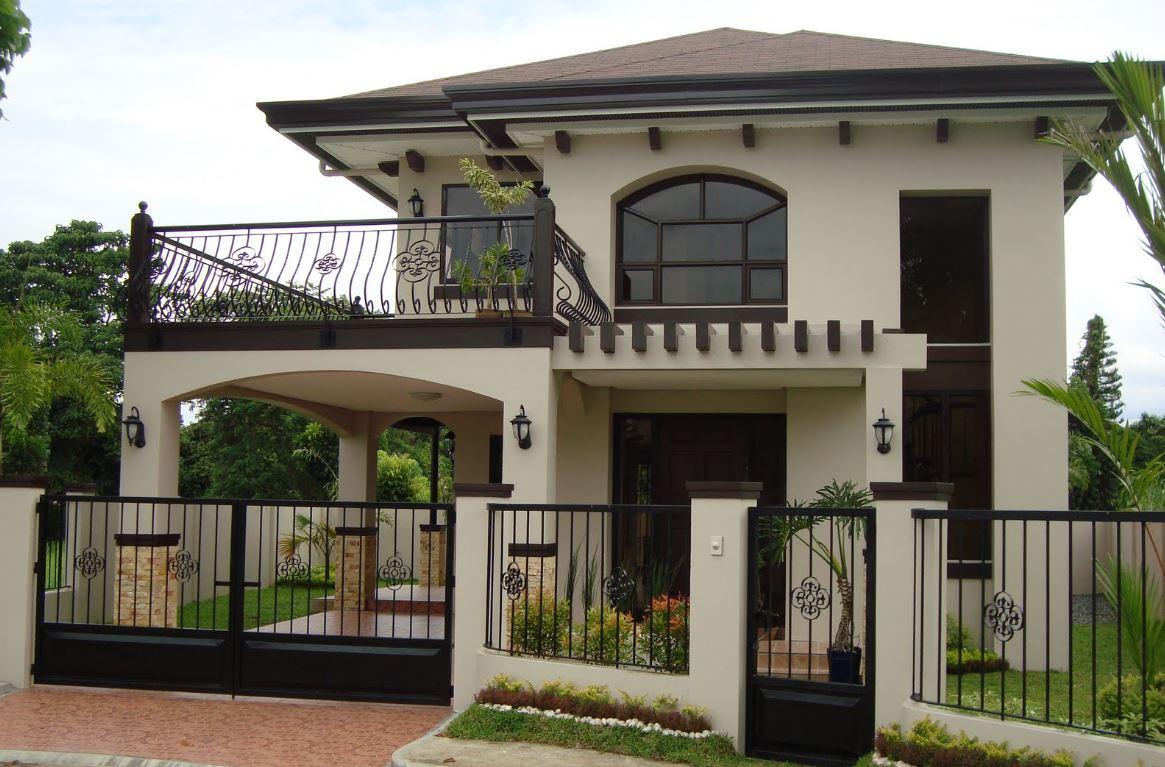 Fachadas con terraza for Fachadas de frente de casas