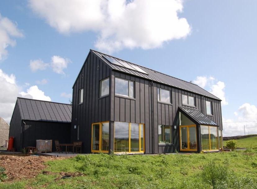 Fachadas de casas de chapas for Casas de chapa para jardin