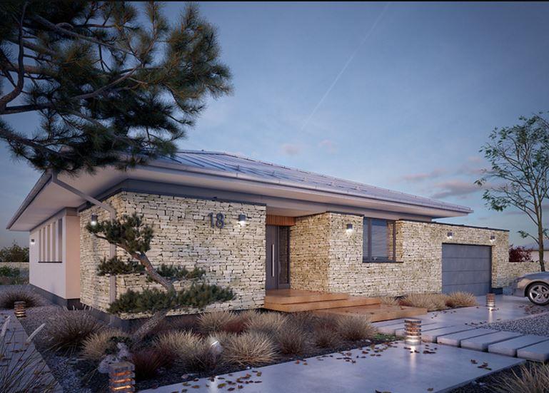 Fachadas minimalistas - Piedra para exteriores casas ...