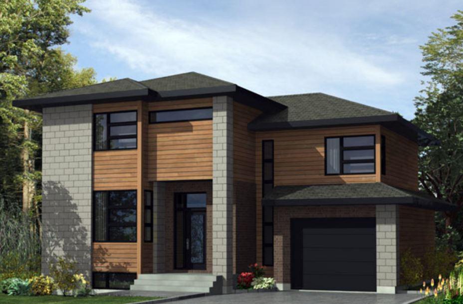 Fachada de casas de 150 metros cuadrados for Casas modernas 120 metros cuadrados