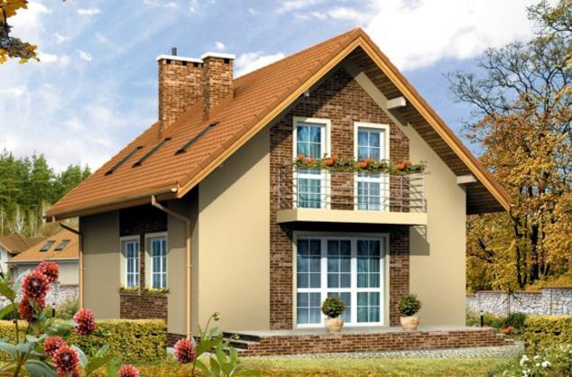 Fachada de casa clasica - Casas de madera de dos plantas ...