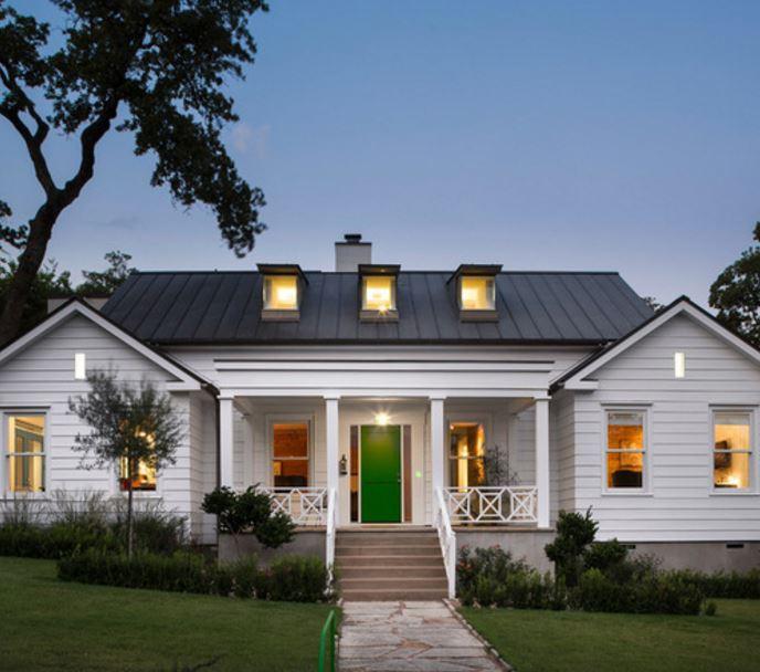 Fachadas con techos de chapa for Modelos de techos metalicos para casas