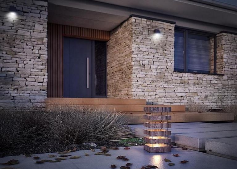 Fachadas de casas minimalistas con piedras for Piedras para fachadas minimalistas