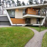 Fachada de casa asimetrica