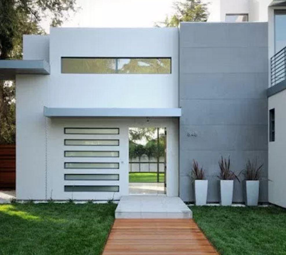 10 fachadas de casas minimalistas for Piedras para fachadas minimalistas