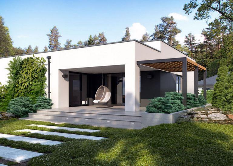 Fachadas rectas for Casa minimalista de una planta