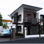 Casa de 2 pisos con rejas