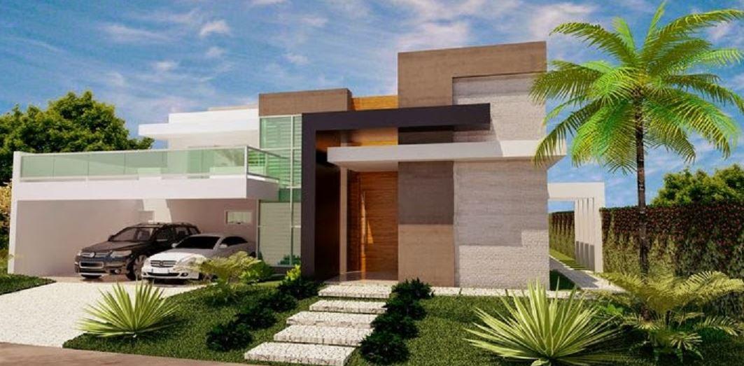 Fachadas de casas con cochera doble for Casa con garage laterale