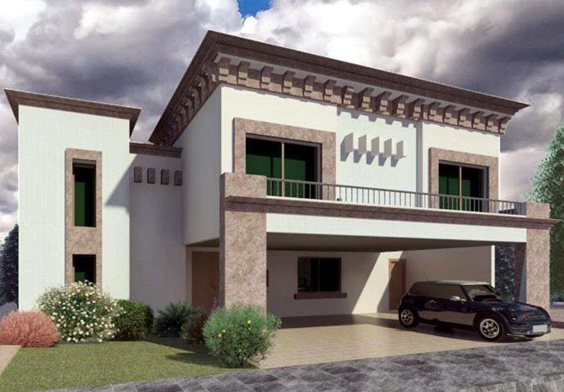 Fachadas de casas con cochera doble - Cocheras abiertas ...