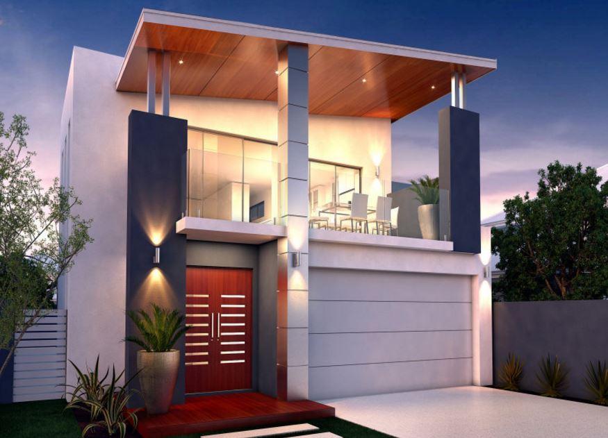 Fachadas de casas con cochera doble for Viviendas modernas