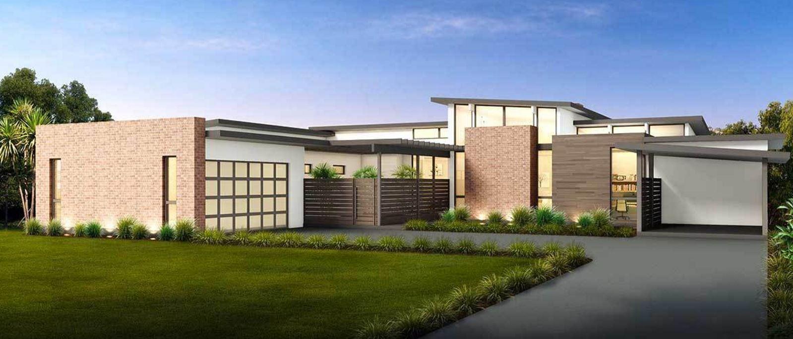 Casas modernas de una sola planta for Fachadas de viviendas de una planta