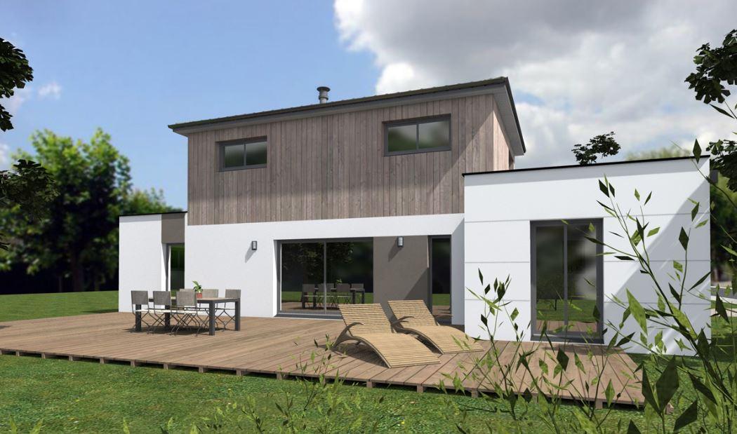 podemos apreciar la misma lnea esttica observada en el frente principal lo cual da mucha armona al exterior de esta casa minimalista de pisos