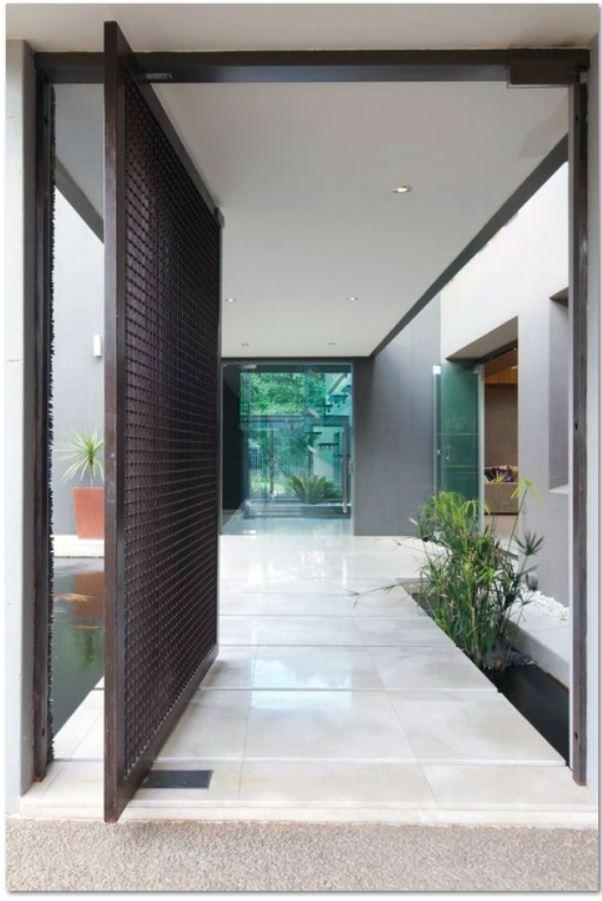 Puertas para fachadas modernas