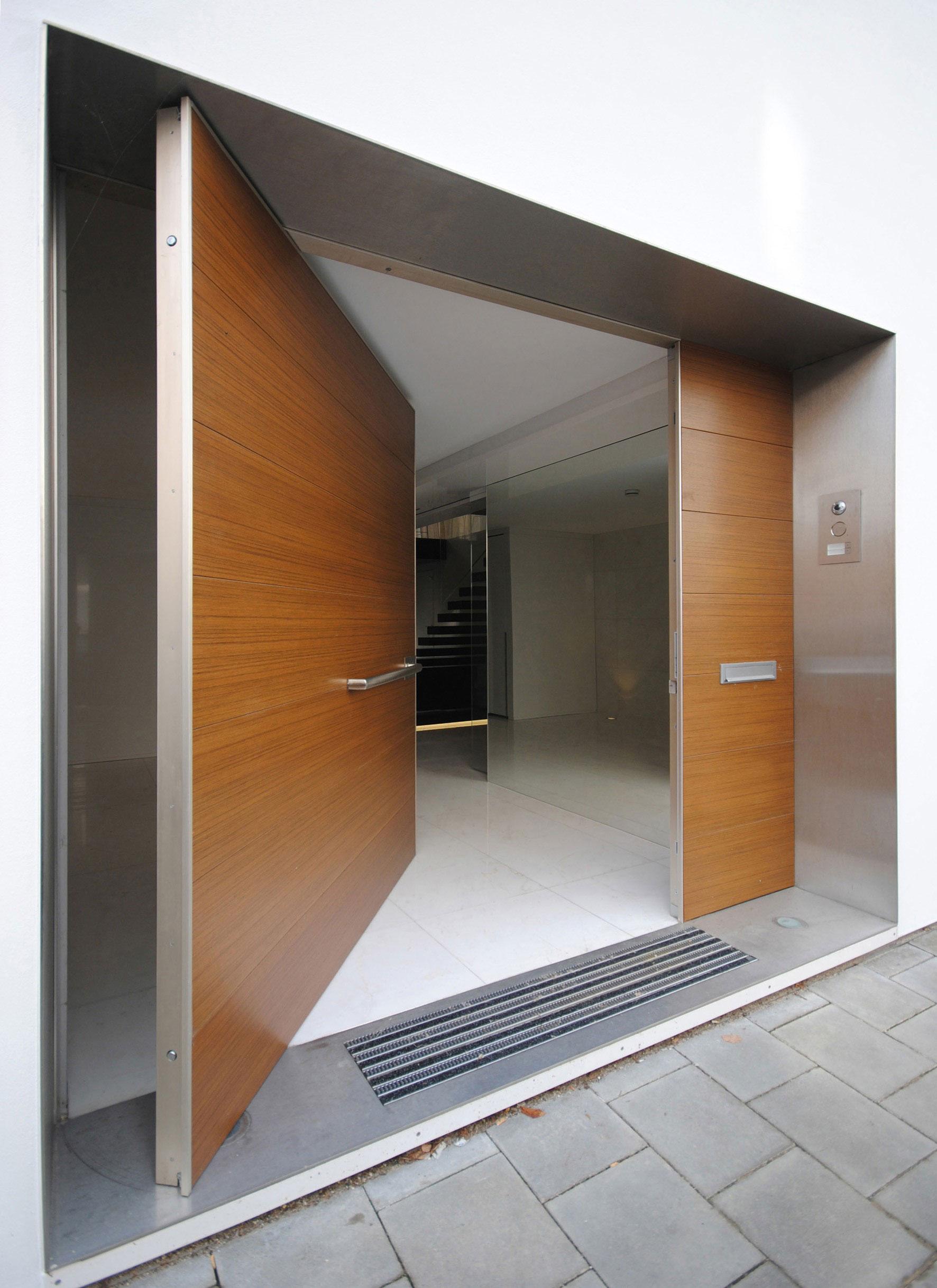 Puertas Principales Modernas De Madera