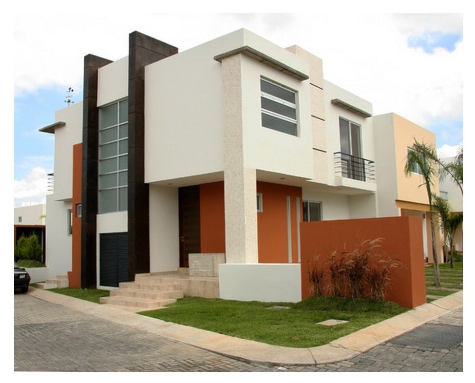 Fotos de fachadas de casas esquineras modernas 27