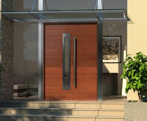 25 fotos puertas modernas para casas for Puertas de madera modernas para entrada principal