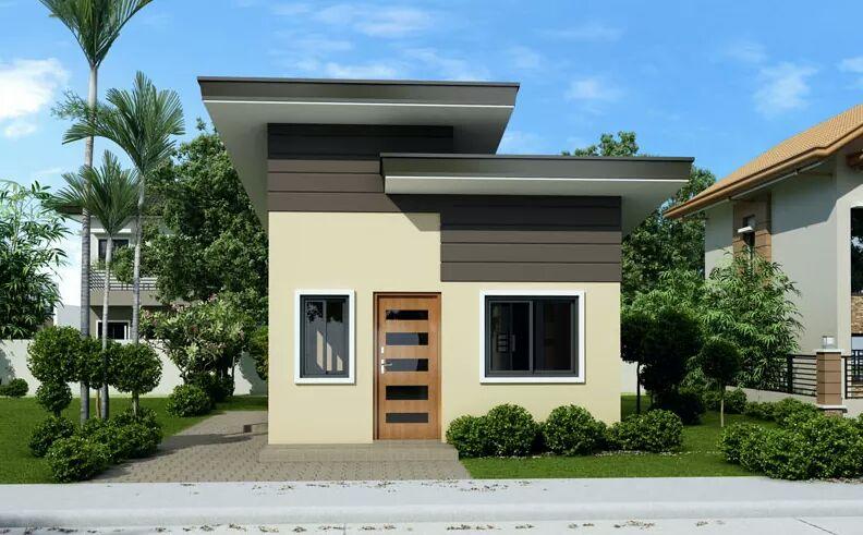 fachadas de casas con techo inclinado hacia atr s
