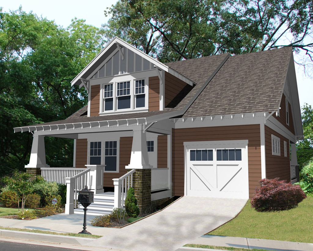 Arts And Crafts Style House Plans Fachadas Con Corredores