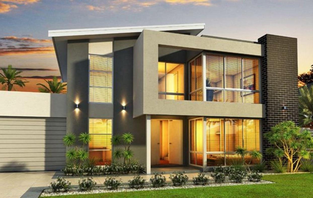 Fachadas con jardin frontal for Fachadas de ventanas para casas modernas