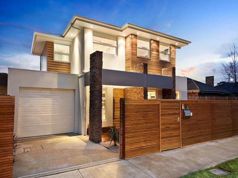 Fachadas con madera y piedra - Casas de madera balcan house ...