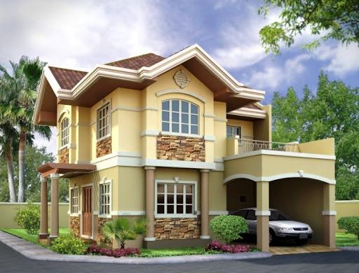 Fachadas de casas con arcos y columnas - Casas blancas bonitas ...
