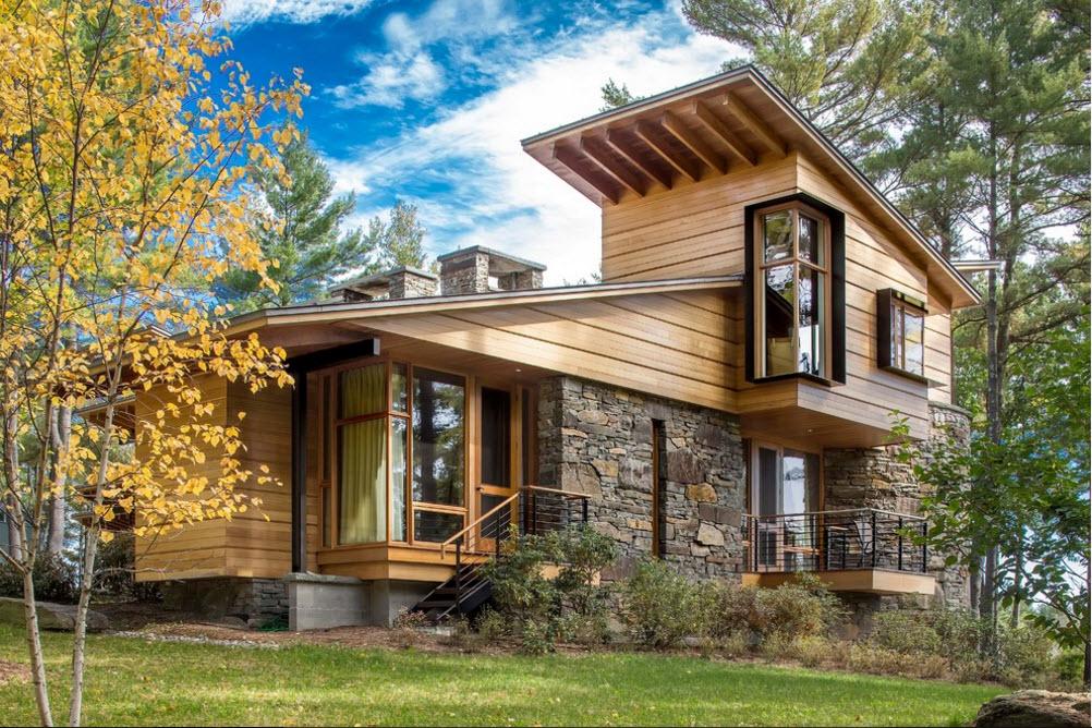 Fachadas con madera y piedra - Casas de piedra y madera ...