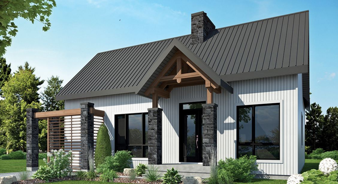 Fachada revestida en piedra for Frentes de casas modernas con piedras