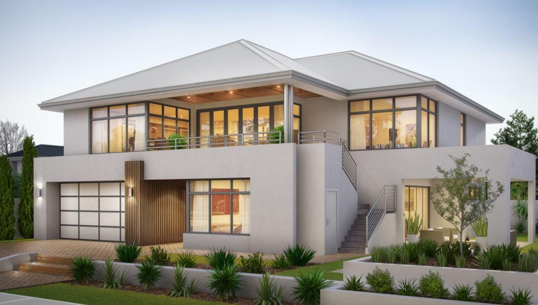 Fachadas con terrazas - Terrazas de casas modernas ...