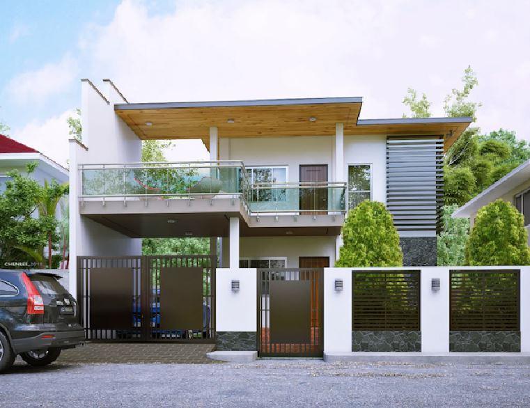 Fachadas con rejas for Fachadas modernas para casas de dos pisos