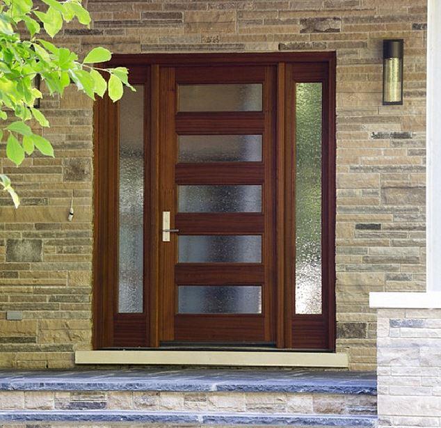 Puertas principales con vidrio for Vidrios para puertas principales