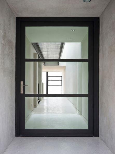 Puertas con vidrio for Vidrios para puertas principales