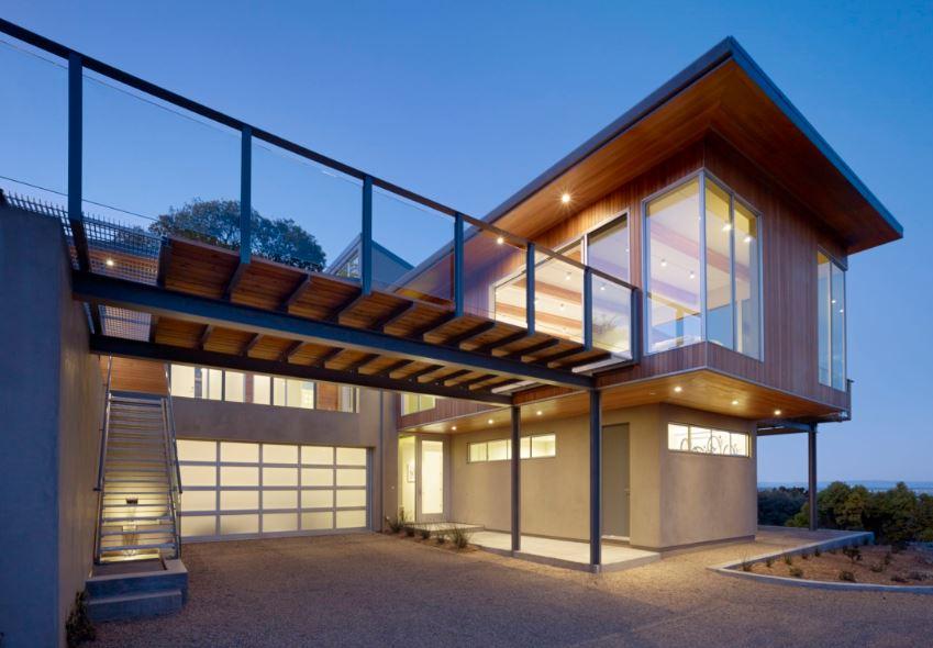 Barandas de vidrio para balcones for Balcones madera exterior