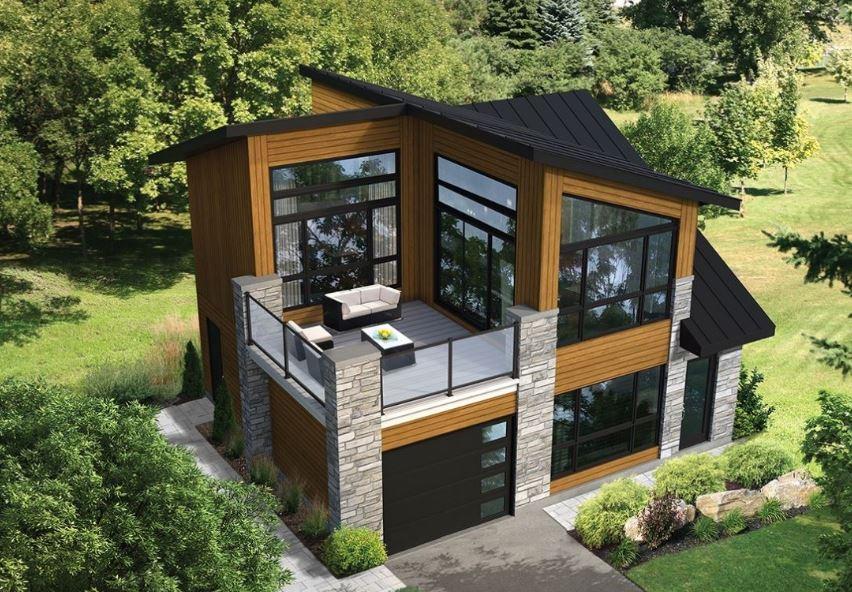 Fachadas de casas modernas for Terrazas 2do piso