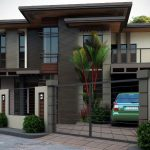 Fachadas de casas modernas de dos pisos con rejas