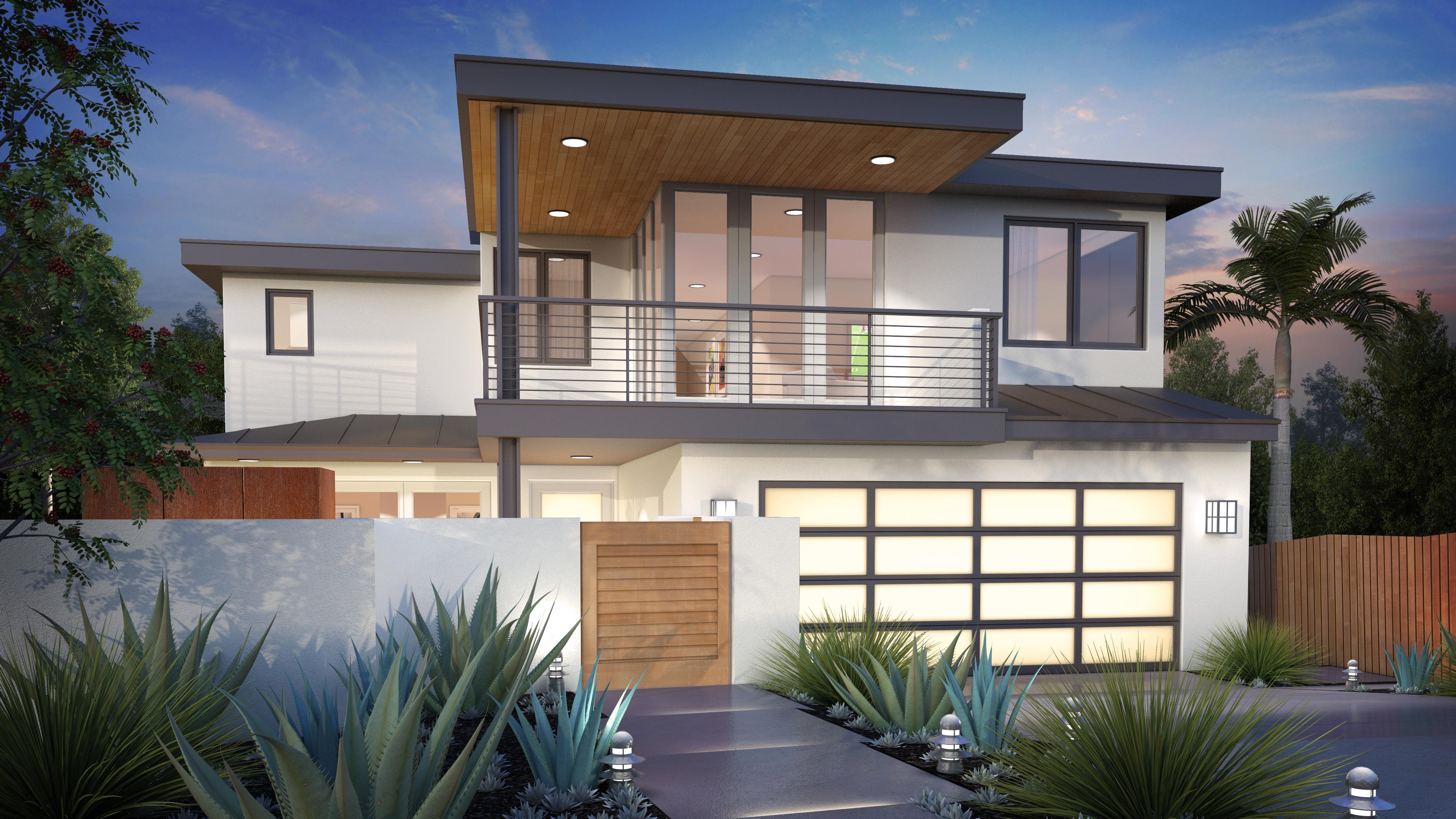 Fachadas con luces - Luces exteriores para casas ...