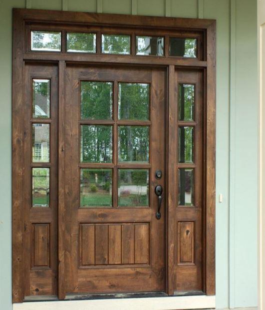 Puertas para fachadas for Puertas de entrada con vidrio
