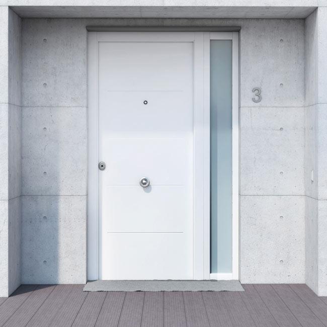 Puertas de aluminio para fachadas for Puertas baratas leroy merlin