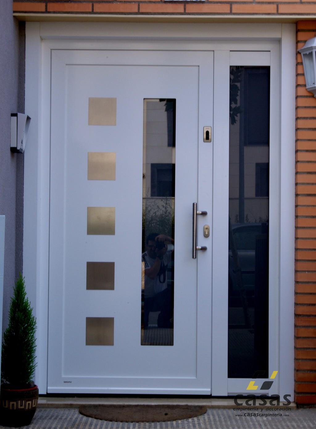 Puertas de aluminio para fachadas for Puerta entrada aluminio