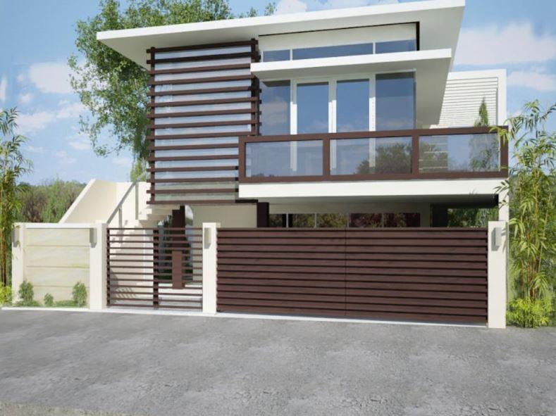 Fachadas de casas modernas de dos pisos con rejas - Rejas de casas modernas ...