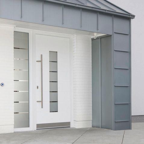 Puertas de aluminio para fachadas - Puertas de herreria para entrada principal ...