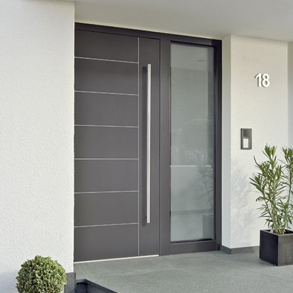 Fachadas con aberturas de aluminio for Puertas de entrada de casas modernas