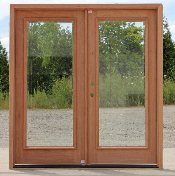Puertas para fachadas - Puertas de madera con cristal ...