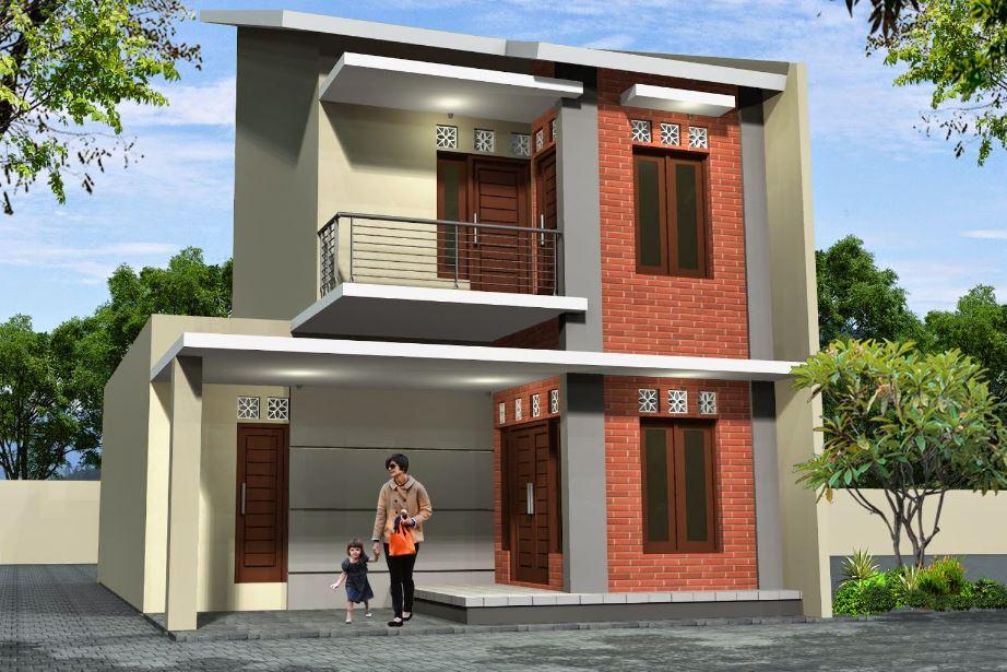 Fachada de casa moderna de dos pisos con ladrillos de vidrio for Fachadas de casas modernas 2 pisos